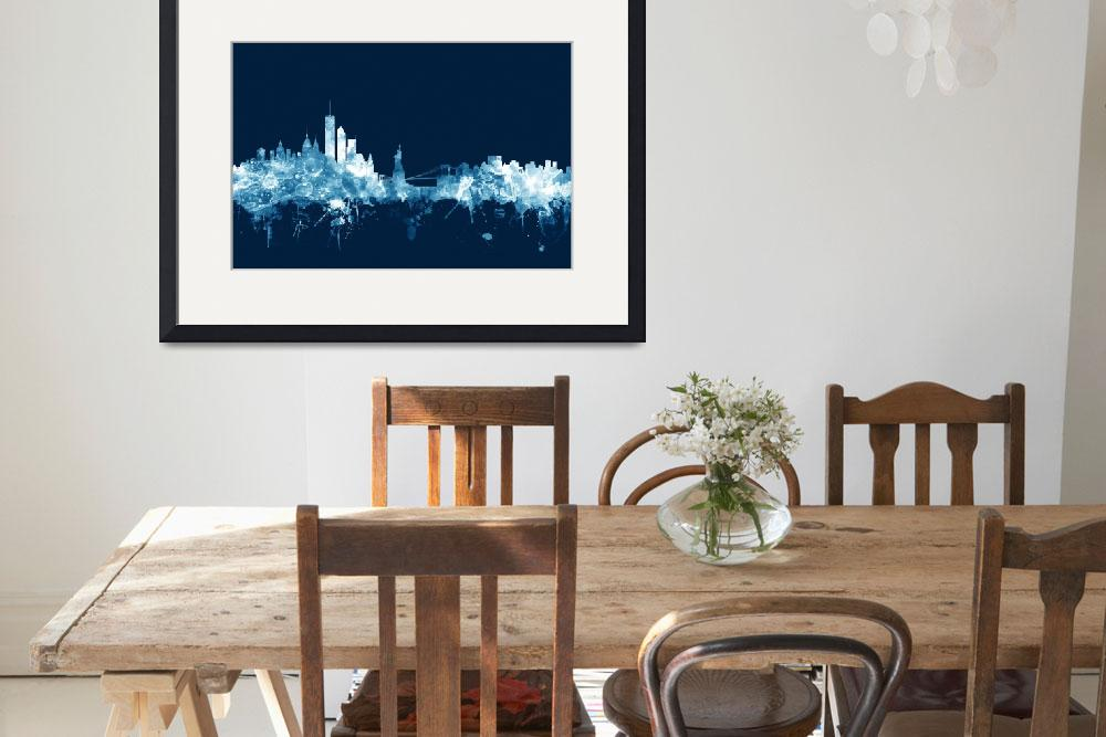 """New York Skyline&quot  (2015) by ModernArtPrints"