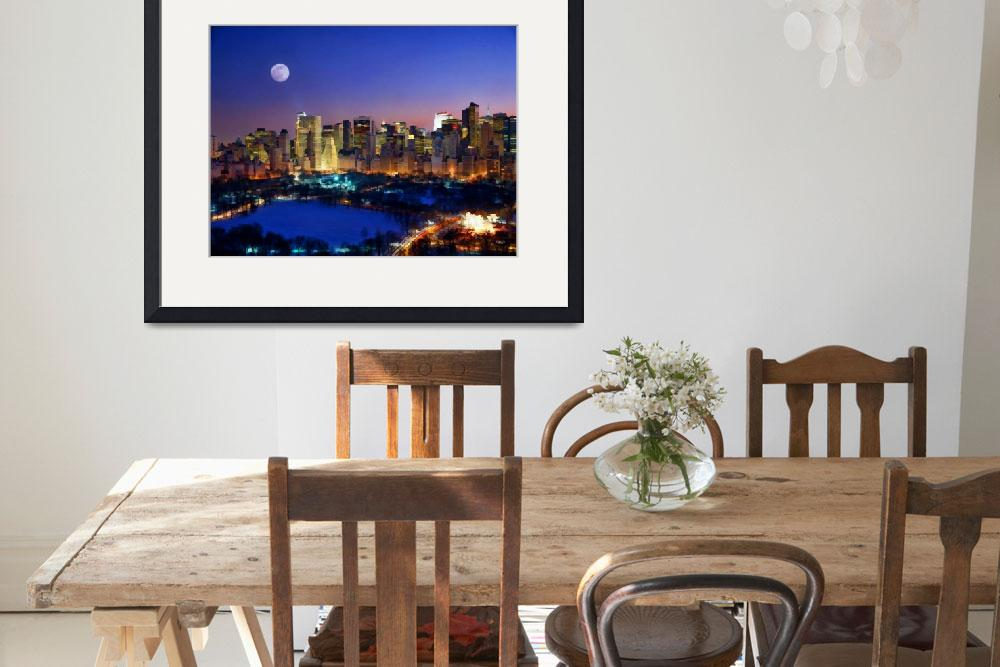 """Moonrise Over Manhattan&quot  (2000) by rdwittle"