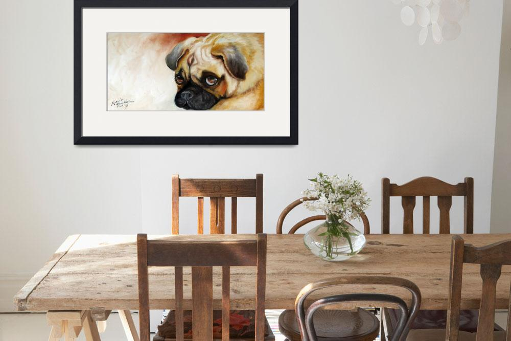 """CUTIE PIE PUG&quot  (2009) by MBaldwinFineArt2006"