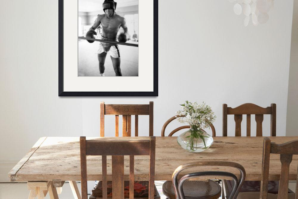 """Muhammad Ali training inside ring&quot  by RetroImagesArchive"