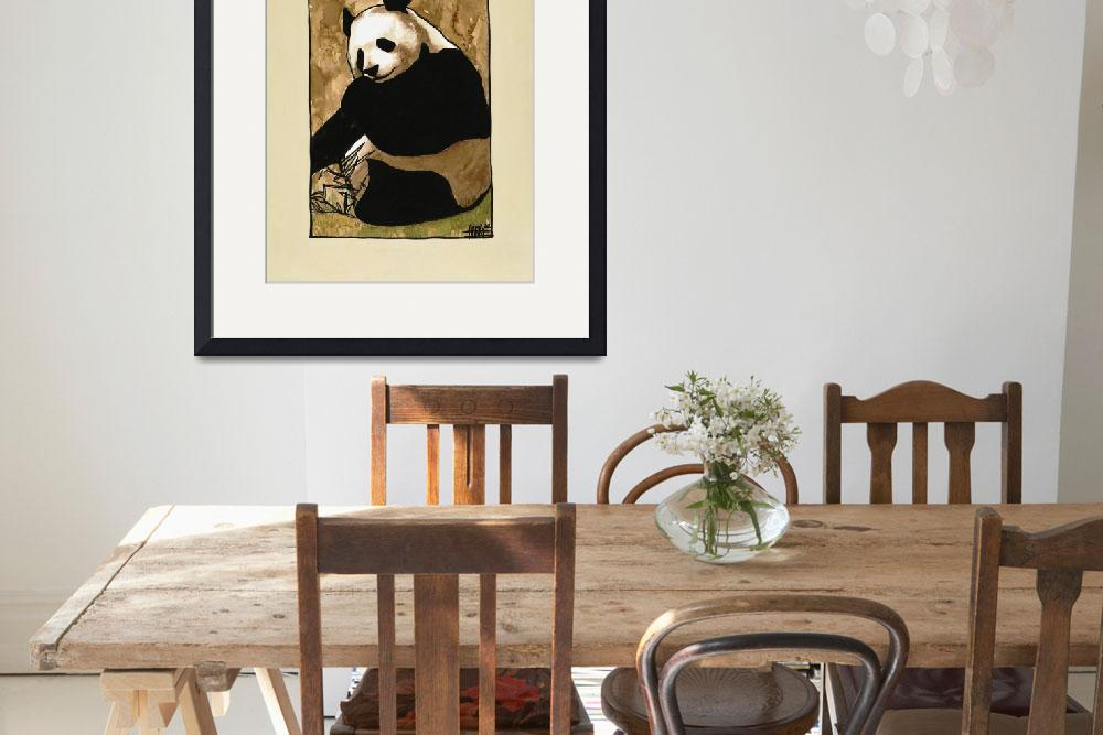 """Eating Panda 14 x 11&quot  (2002) by harryboardman"