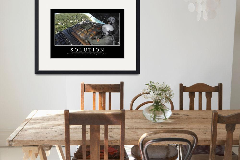 """Solution: Inspirational Quote and Motivational Pos&quot  by stocktrekimages"