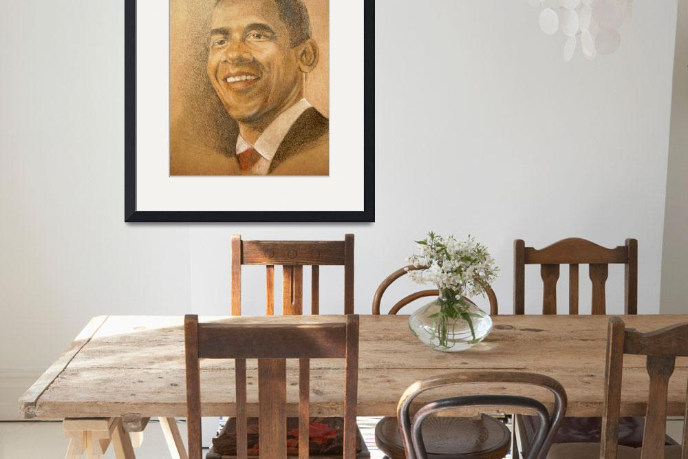 """Barack Obama, Hope of the Nation&quot  (2009) by WildArt"
