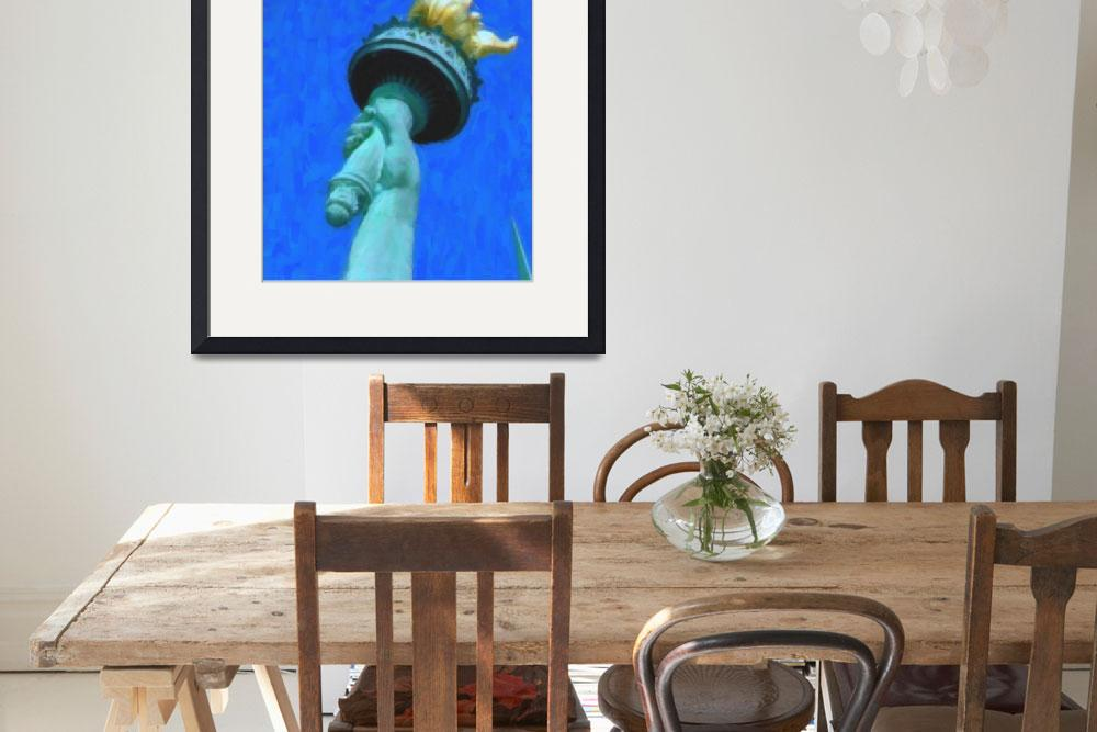 """Torch of Statue of Liberty&quot  by motionage"