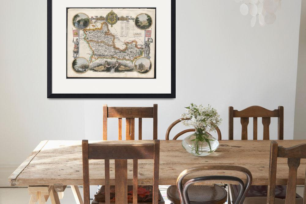 """Antique Map of Berkshire&quot  by wessexprints"