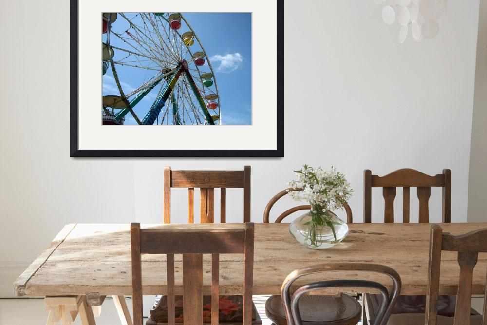 """Ferris Wheel Against Blue Skies&quot  (2008) by alisonwest"