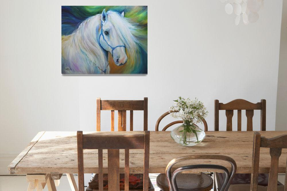 """MADDIE the ANGEL HORSE&quot  (2011) by MBaldwinFineArt2006"