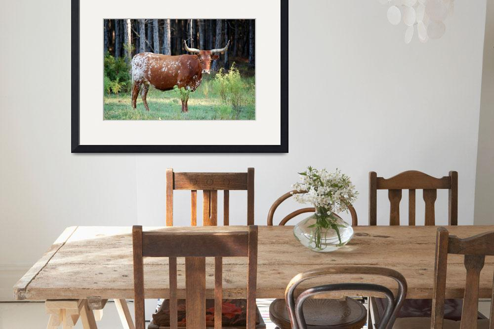 """Red Longhorn Cow&quot  (2009) by rderder"