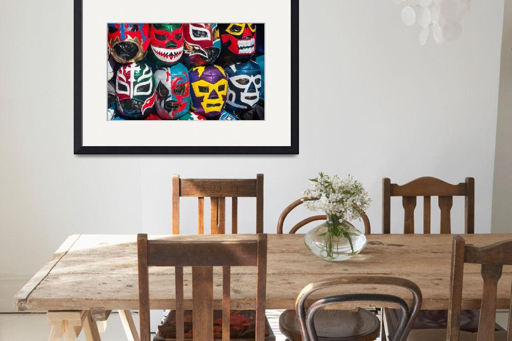 """Mexican Wrestler Masks&quot  (2011) by sandy"