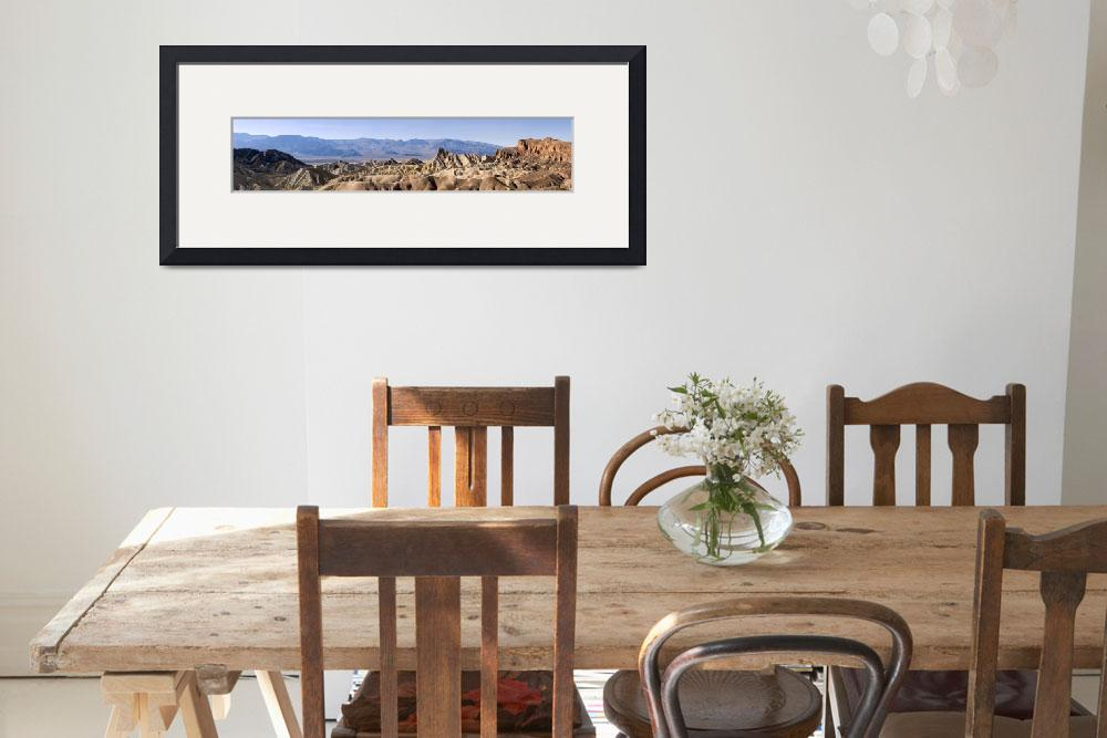 """Zabriskie Point Panorama - Death Valley&quot  (2008) by miir"