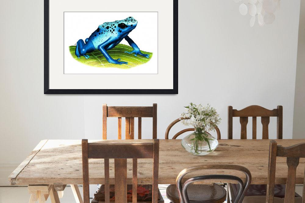 """Blue Poison Dart Frog&quot  (2009) by inkart"