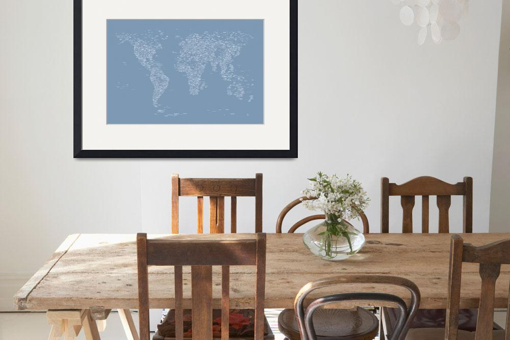 """World Map of Cities&quot  (2012) by ModernArtPrints"