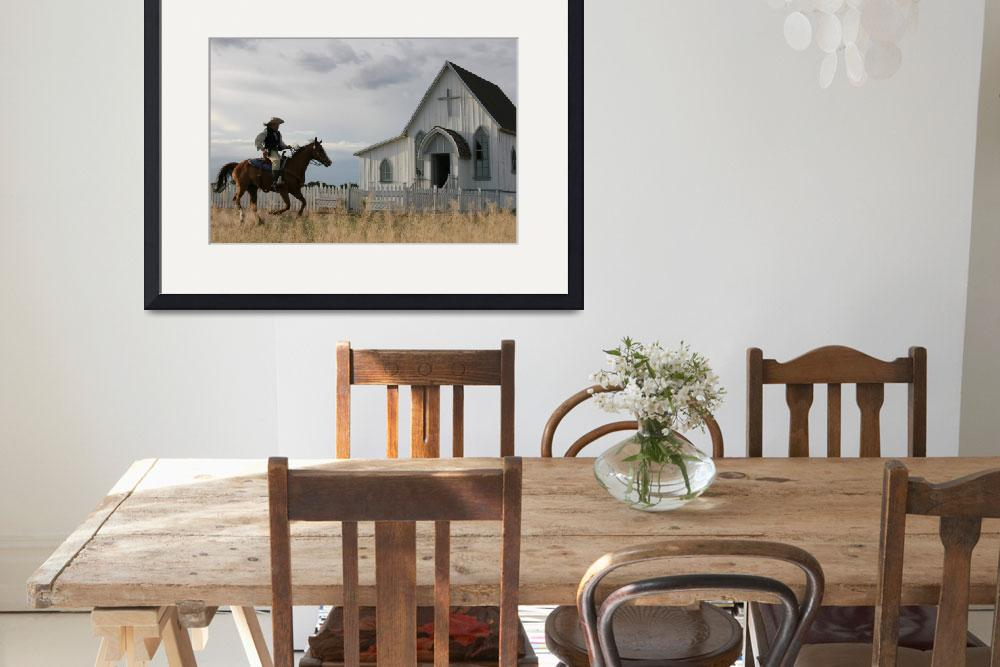 """Cowboy and Church&quot  by Janetreynolds"
