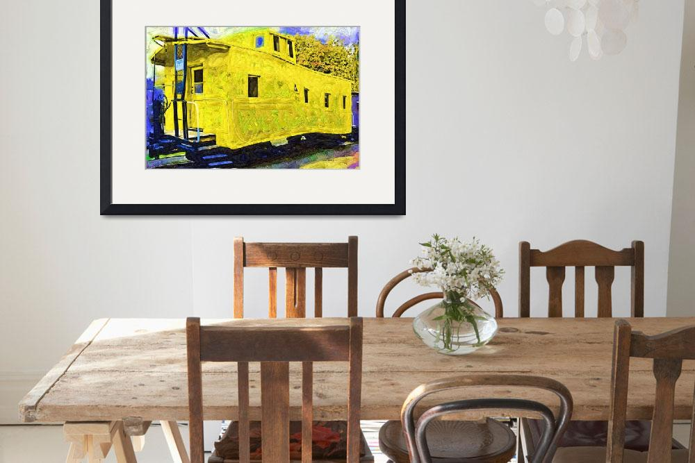 """A Bright Yellow Caboose&quot  (2014) by Kirtdtisdale"