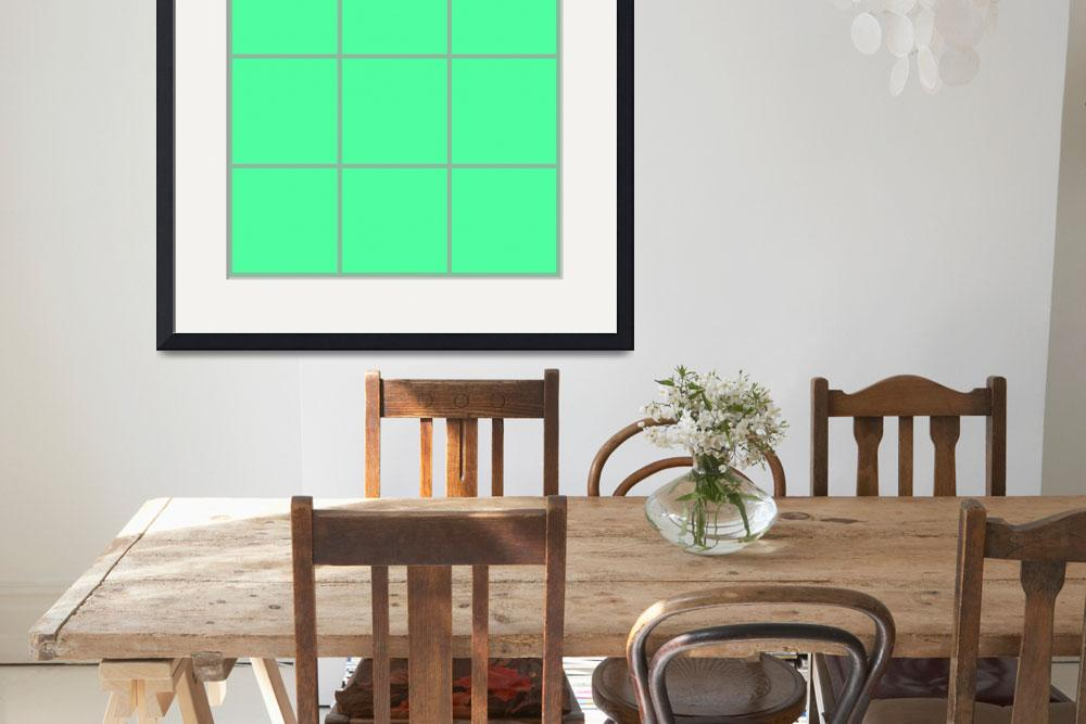 """Green Window 028 Canvas Contemporary Modern&quot  (2010) by Ricardos"