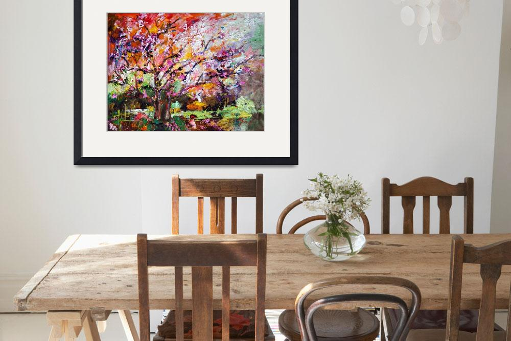 """Abstract Tree Spring Blossom Original Painting by&quot  (2007) by GinetteCallaway"