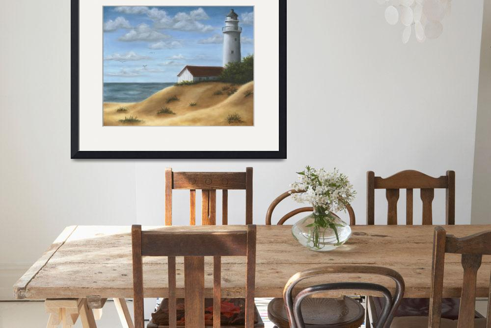 """Lighthouse on the Dunes&quot  by elainerittler"