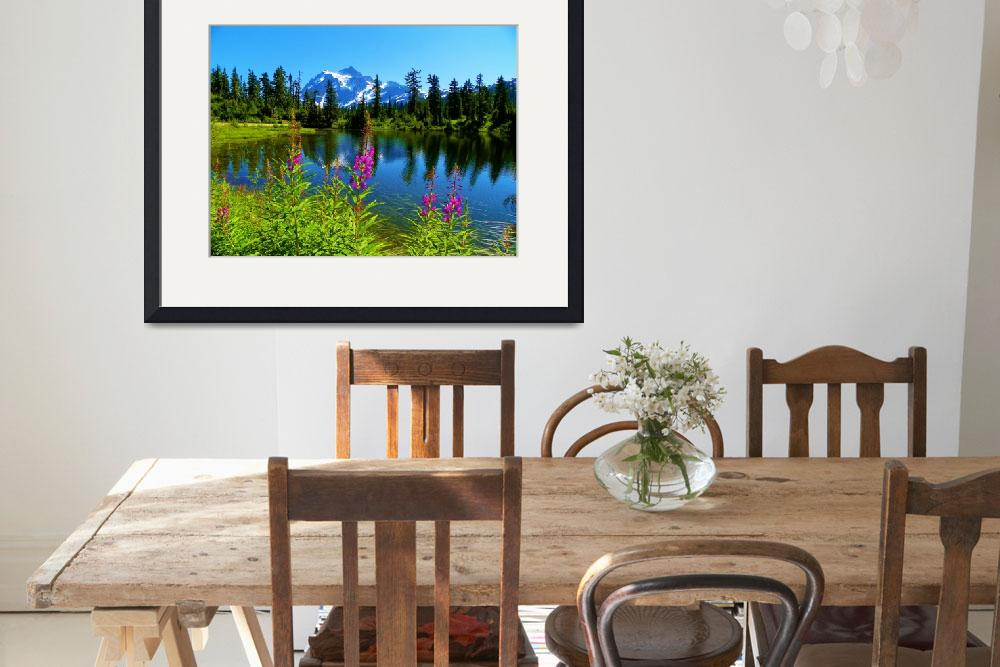 """Picture Lake With A Big Story - Mount Shuksan&quot  by artsandi"
