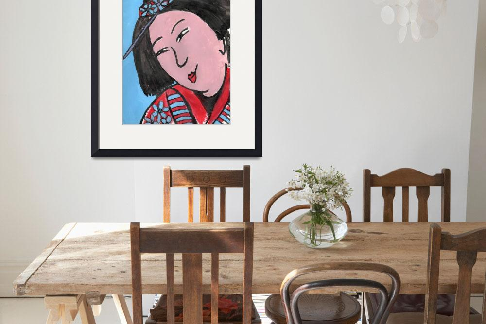 """Edo Mother, Art inspired by Japanese textiles depi&quot  by schulmanart"