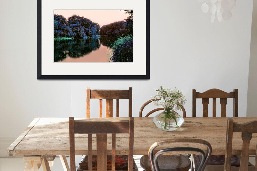 """Fox River in Silver Lake WI: 24x36&quot  by bloomingvinedesign"