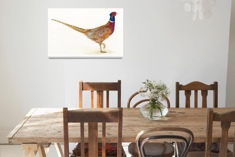 """pheasant&quot  (2013) by LisaMclaughlin"