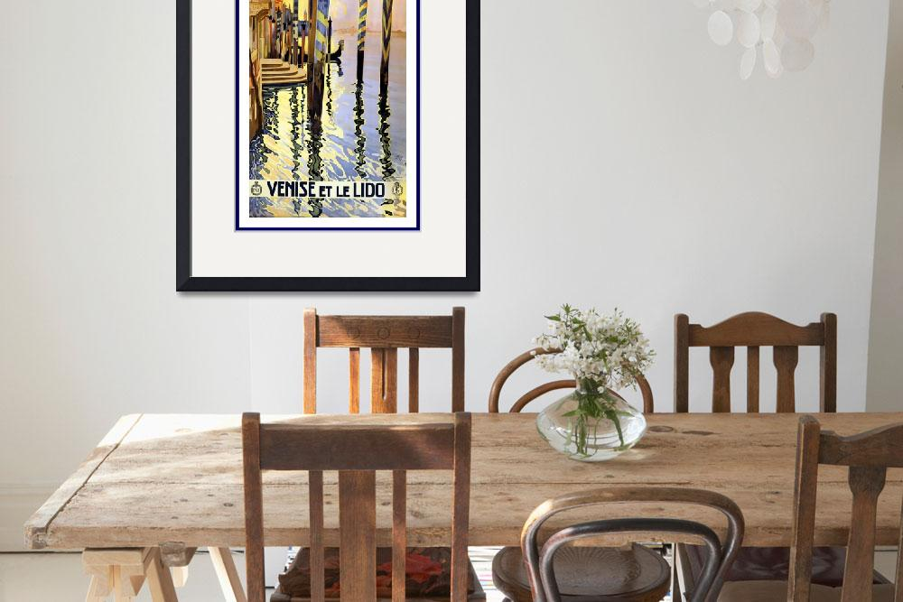 """Venice Vintage Travel Poster&quot  by shanmaree"