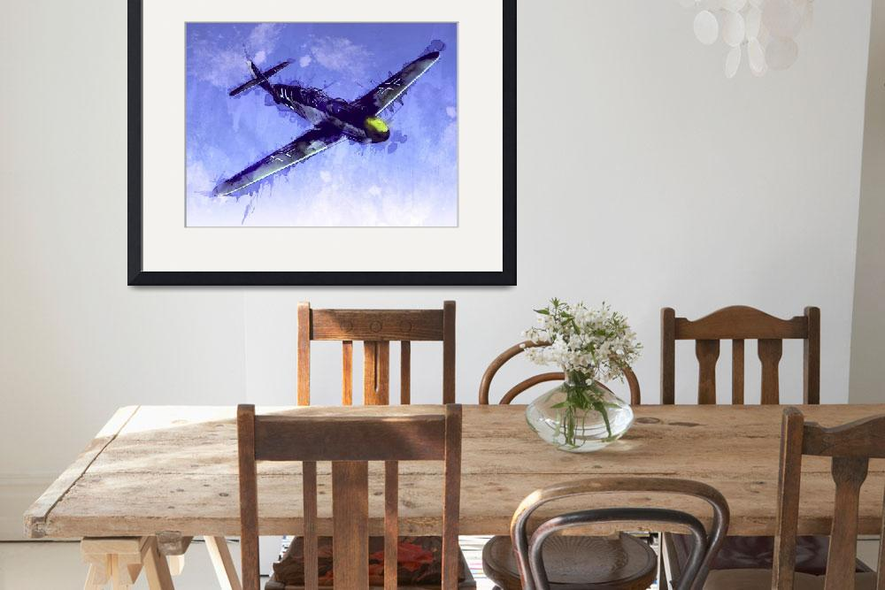 """Messerschmitt Bf 109&quot  (2010) by ModernArtPrints"