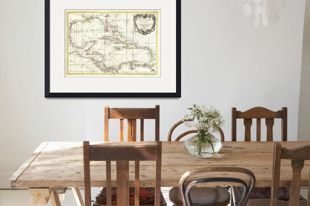 """Vintage Caribbean Map (1762)&quot  by Alleycatshirts"