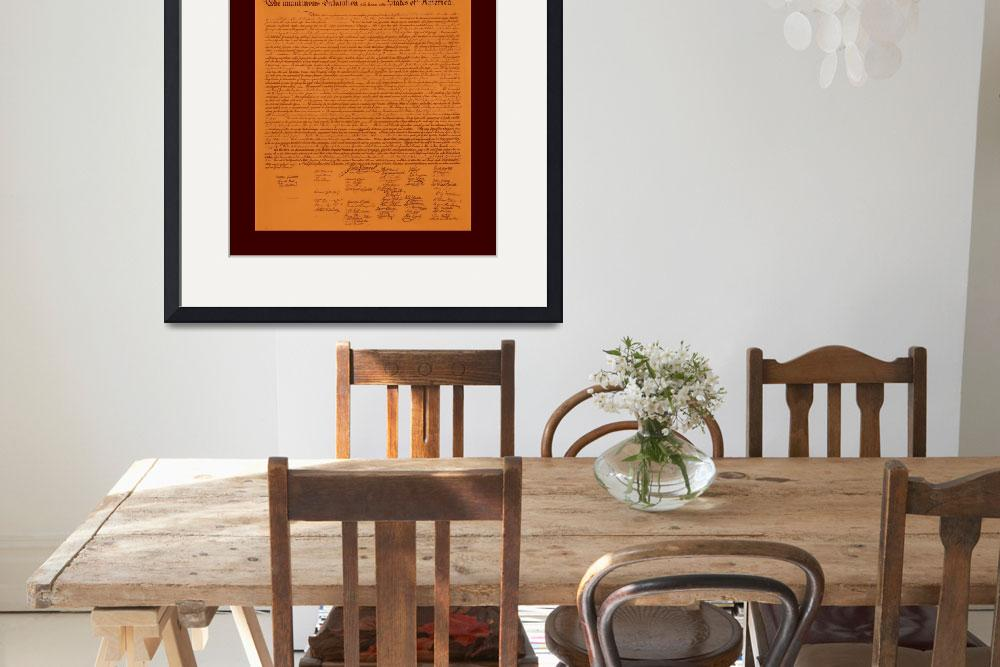 """Declaration of Independence aged with medium borde&quot  (2013) by TheNorthernTerritory"