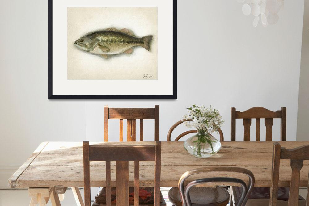 """Largemouth Bass&quot  by Karen"