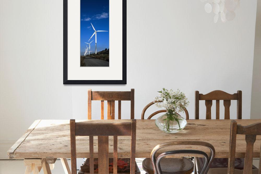 """Wind turbines at the roadside Provence Alpes Cote&quot  by Panoramic_Images"