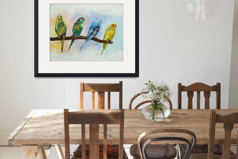 """Four Parakeets&quot  by creese"