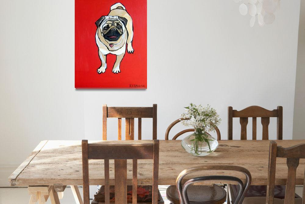 """Red Pug&quot  (2010) by AVApostle"