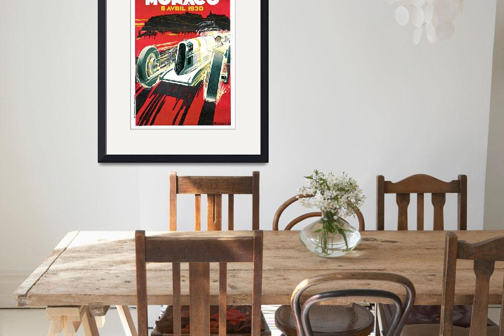 """Monaco Grand Prix Vintage 1930 Auto Race Poster&quot  (1930) by Johnny-Bismark"