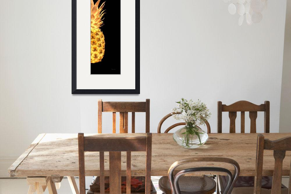 """14Gr Artistic Glowing Pineapple Digital Art Gold&quot  (2016) by Ricardos"