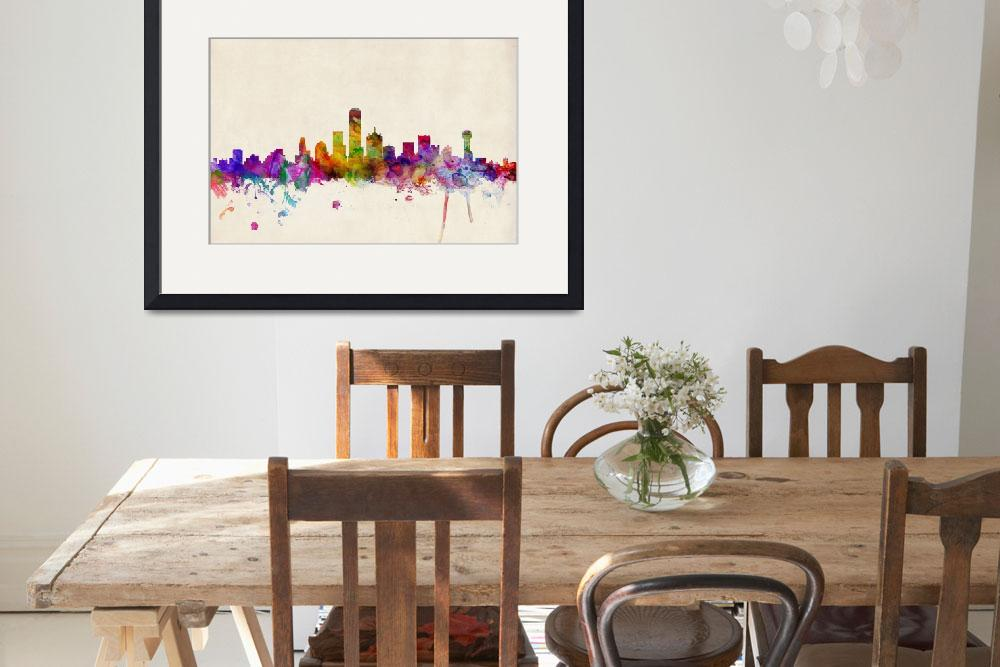 """Dallas Texas Skyline&quot  (2013) by ModernArtPrints"