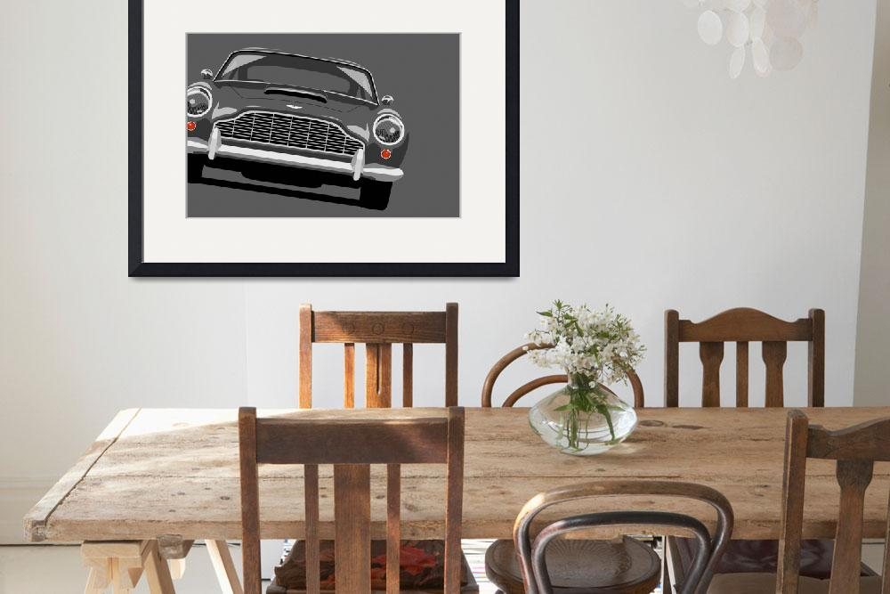 """Aston Martin DB5&quot  (2010) by ModernArtPrints"