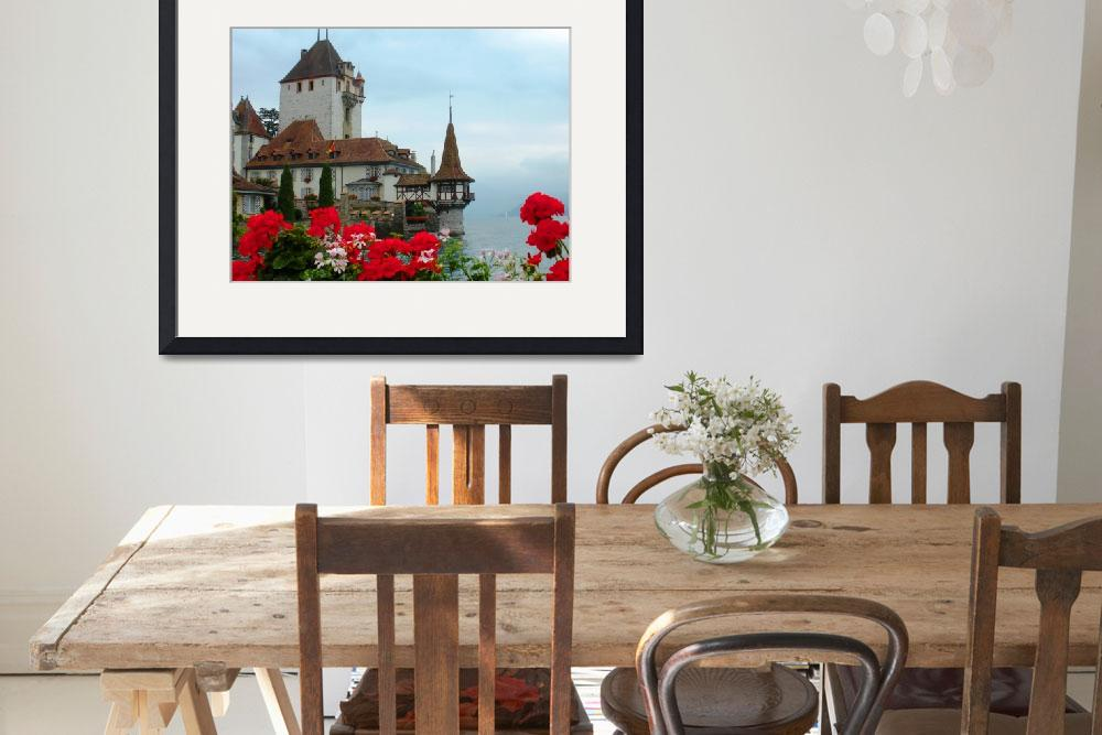"""Oberhofen Castle and Flowers&quot  (2009) by marilyndunlap"