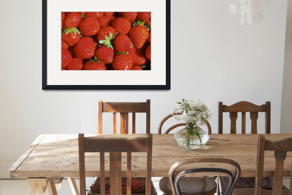 """Red, Red Strawberries&quot  (2002) by SederquistPhotography"