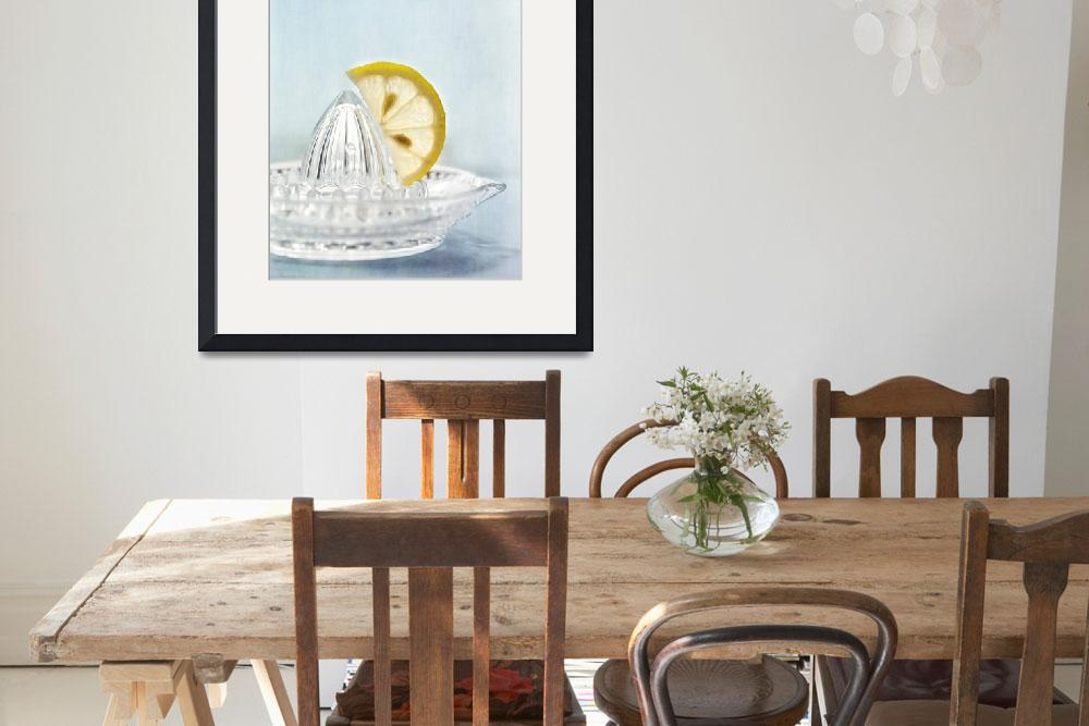 """still life with a half slice of lemon&quot  by Piri"