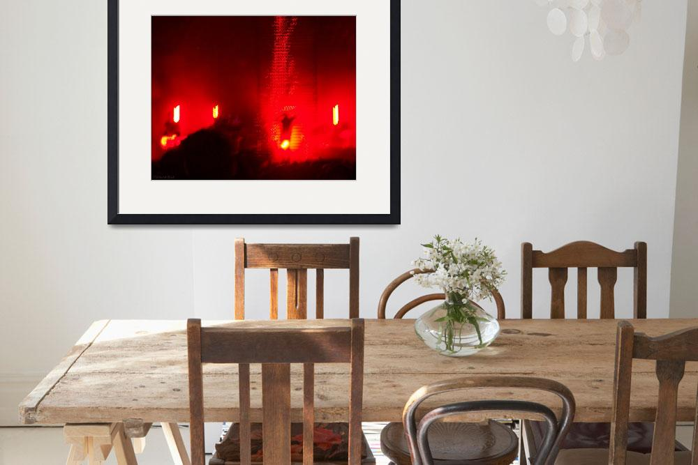 """Nine Inch Nails Concert Lights - Violent Red&quot  (2012) by ShawnaRowe"
