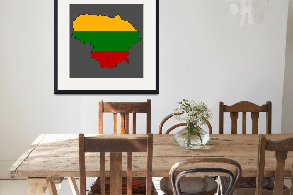 """Lithuanian Flag Silhouette&quot  by KWGart"