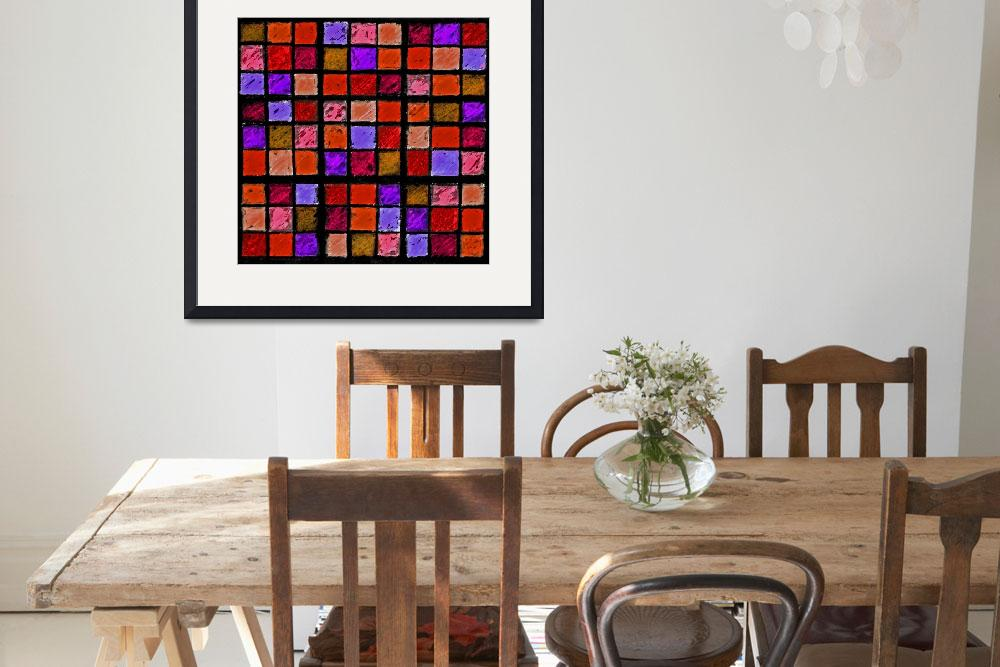 """Sudoku Abstract Red Orange Purple&quot  (2012) by KsWorldArt"