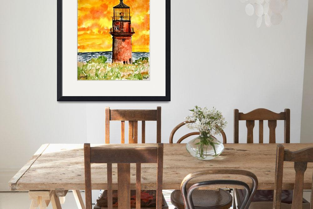 """nautical collectibles gay head lighthouse&quot  (2008) by derekmccrea"