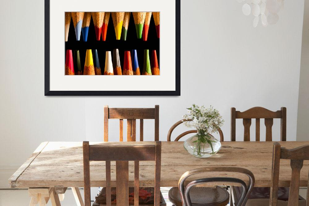 """Sharp Painting Pencils Tips&quot  (2009) by mgarrido"