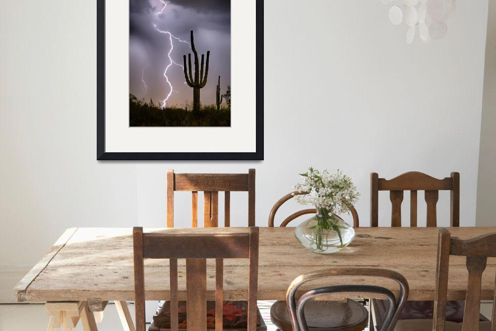 """Sonoran Desert Monsoon Storming&quot  (2017) by lightningman"