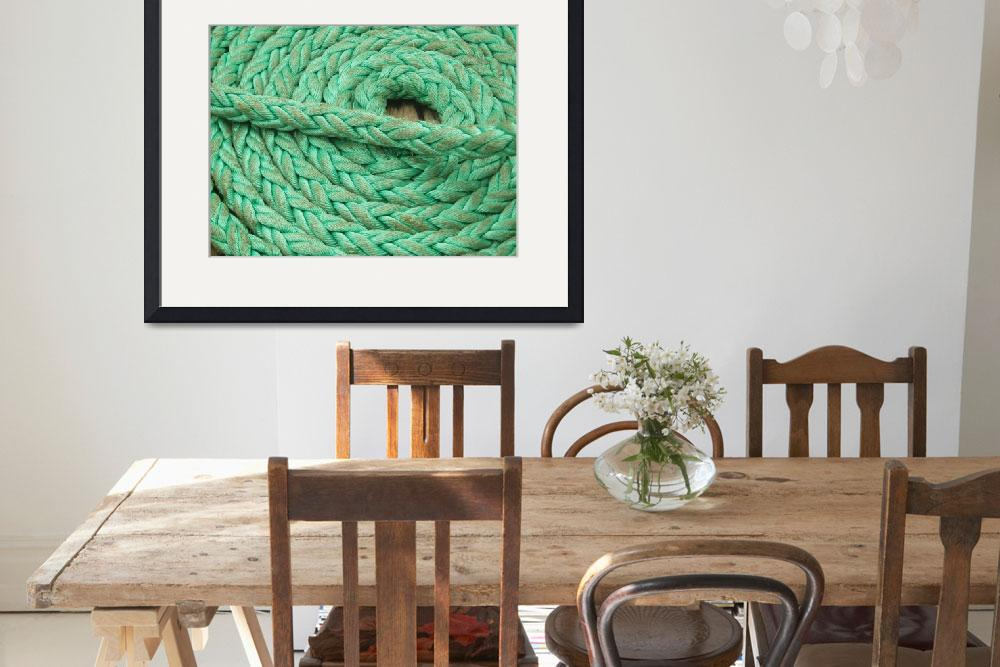 """Coiled Green Rope&quot  (2008) by SueLeonard"