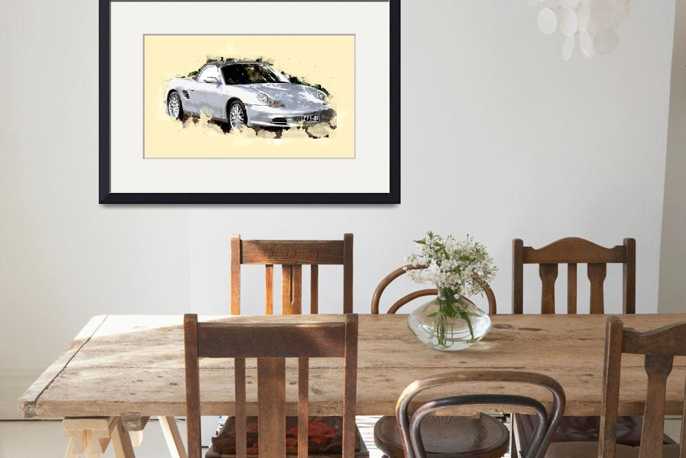 """2002-2004 Porsche Boxster (986) convertible&quot  (2016) by ElainePlesser"