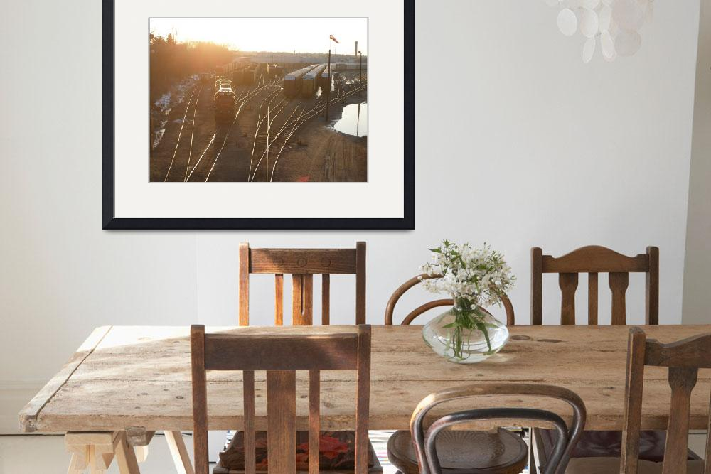 """train yard at sunset&quot  (2009) by phototed"