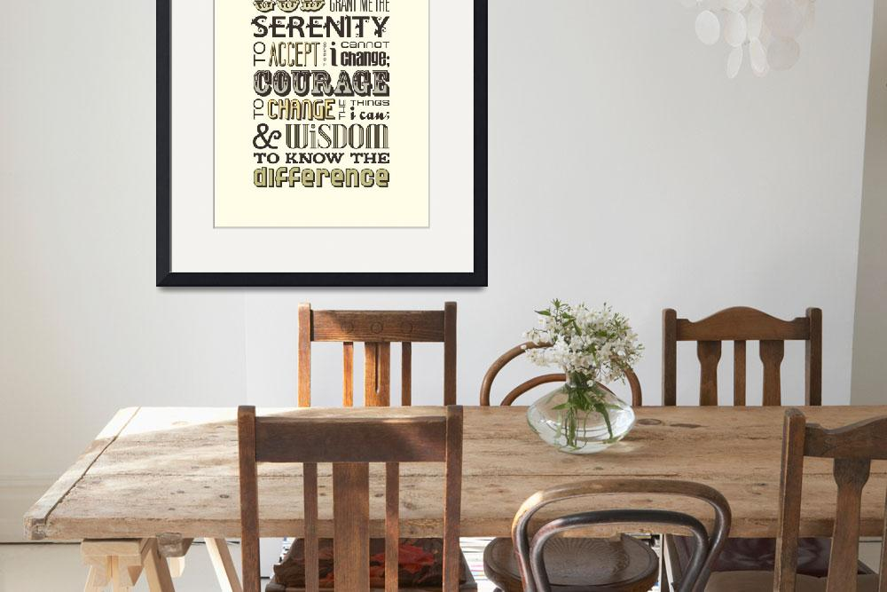 """Serenity Prayer • Multi&quot  by Logophilia"